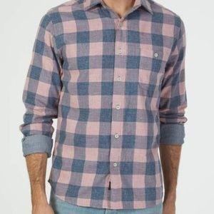 FAHERTY double cloth Seaview shirt XS
